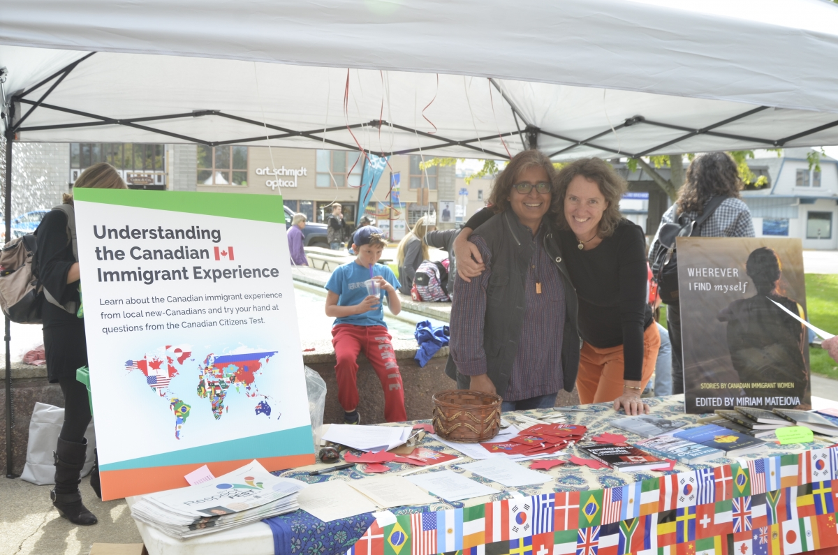 Picture immigrant support booth at festival