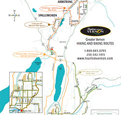 Greater Vernon hiking and biking routes
